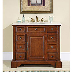 Silkroad Exclusive  Greenfield Single-sink Bathroom Vanity