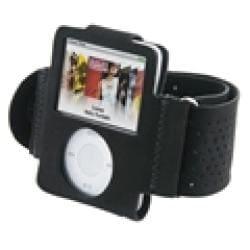 Eforcity Black Velvet Armband for iPod Nano Gen3
