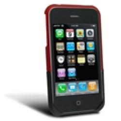Eforcity Black/ Red Snap-on Rubber Coated Case for Apple iPhone 3G