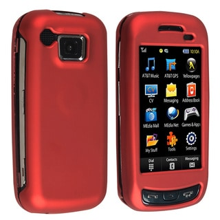 Eforcity Red Snap-on Rubber Coated Case for Samsung Impression A877