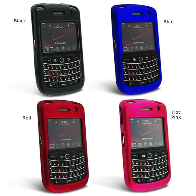 INSTEN Snap-on Rubber Coated Phone Case Cover for Blackberry Tour 9630