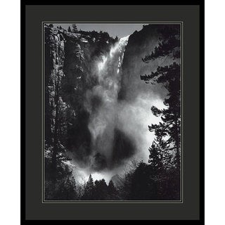 Ansel Adams 'Bridal Veil Falls' Framed Art Print