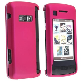 Eforcity Snap-on Hot Pink Rubber Coated Case for LG enV Touch VX11000