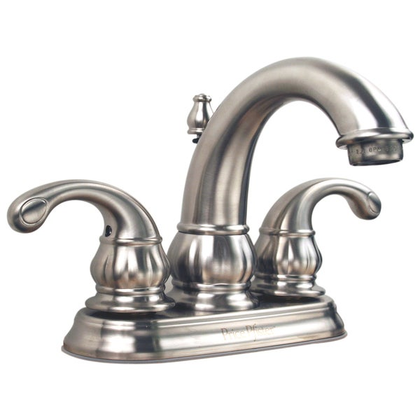 Price Pfister 4-inch Centerset Satin Nickel 2-handle Lavatory Faucet ...