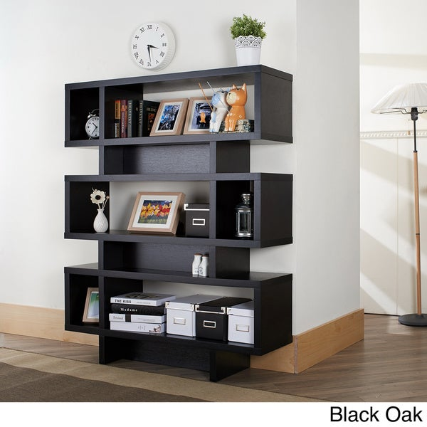 Furniture of america tier display cabinet bookcase for Furniture of america nara contemporary 6 shelf tiered open bookcase