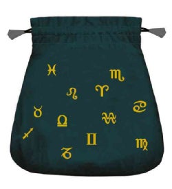 Astrological Black Velvet Tarot Bag (Novelty book)