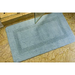 Set of 2 Spa Light Blue 2400-Gram Bath Mats (2'1 x 3'9)