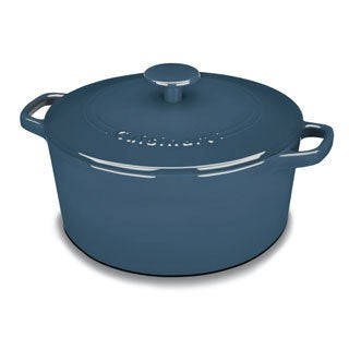 Cuisinart Chef's Classic Cast Iron Enameled 5-quart Blue Casserole