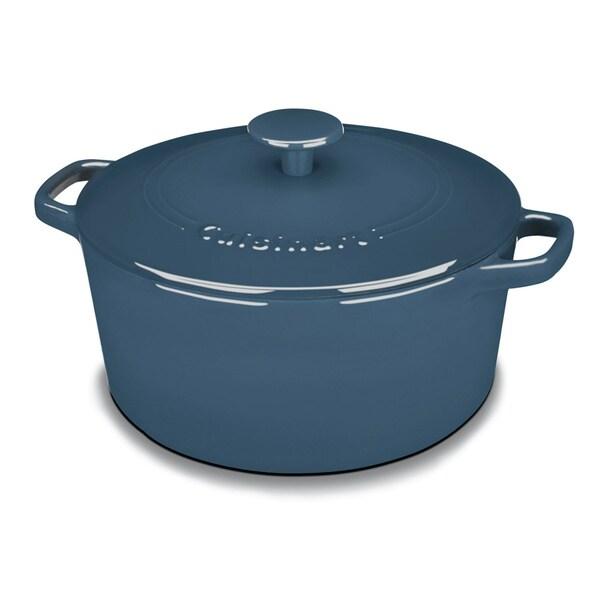 Cuisinart Chef's Classic Cast Iron Enameled 5-quart Blue Casserole