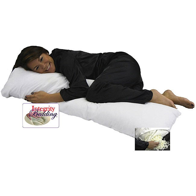 Extra-long 54-inch Memory Foam Noodle Body Pillow