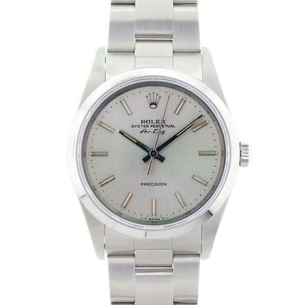 Pre-owned Rolex Men's Air King Precision Stainless Steel Watch