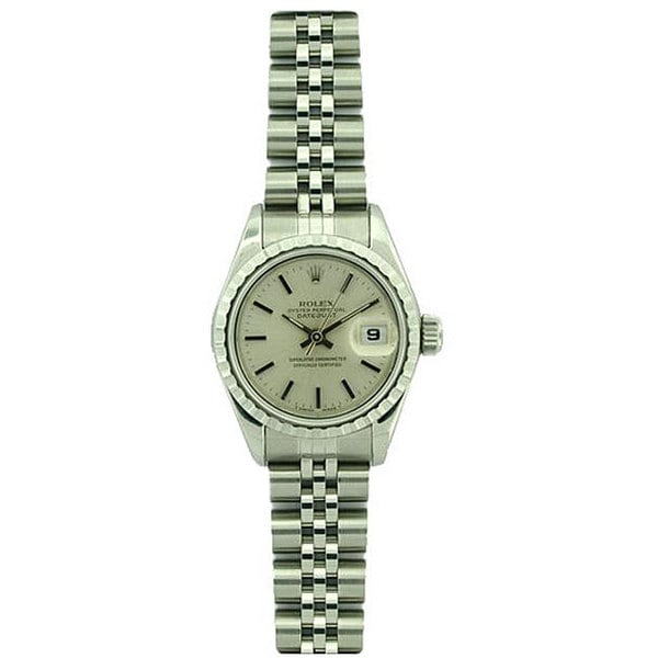Pre-owned Rolex Datejust Women's Stainless Steel Jubilee Band Watch