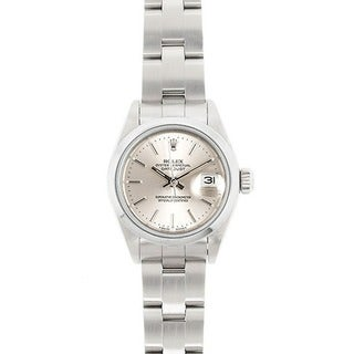 Pre-owned Rolex Datejust Women's Stainless Steel Oyster Band Watch