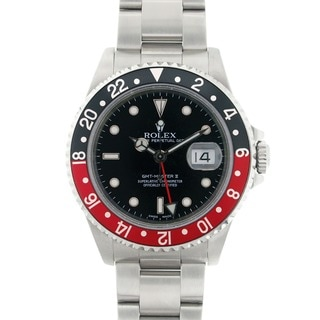 Pre-owned Rolex GMT Master II Men's Stainless Steel Watch