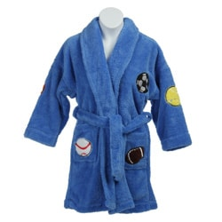 Aegean Boy's Plush Sports Bathrobe