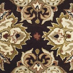 Safavieh Handmade Heritage Traditions Dark Mocha/ Ivory Wool Rug (2' x 3')