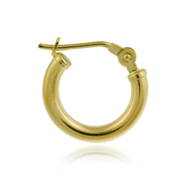 Mondevio 10k Gold 11mm Mini Hoop Earrings