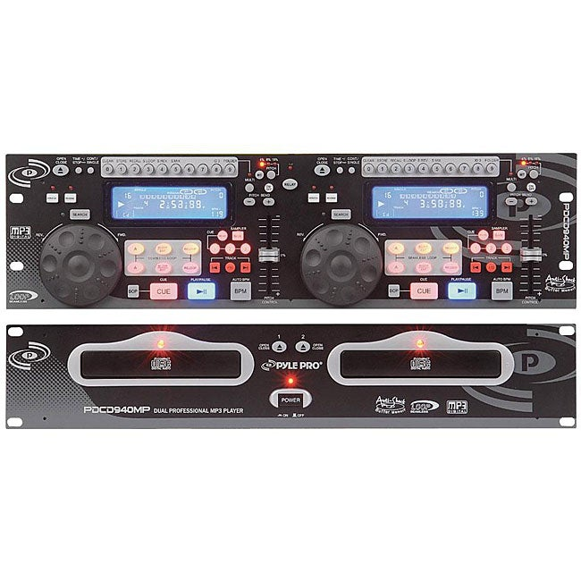 PylePro PDCD940MP Dual CD/ MP3 Player with Scratch Effect