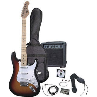 Pyle 3-color Sunburst Electric Guitar Starter Package