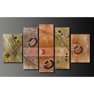 Hand-painted Oil on Canvas Wall Decoration 5-piece Art Set