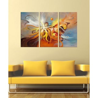 'Flying' Hand-painted Abstract Art Set