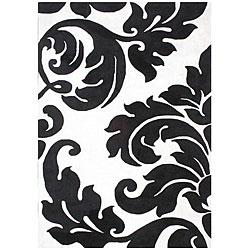 Alliyah Handmade Off-White New Zealand Blend Wool Rug Wool Rug (8' x 10')