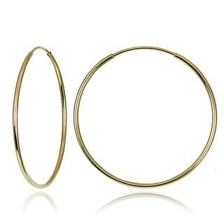 Mondevio 10k Gold 20mm Endless Hoop Earrings
