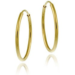 Mondevio 10k Gold 16mm Endless Hoop Earrings