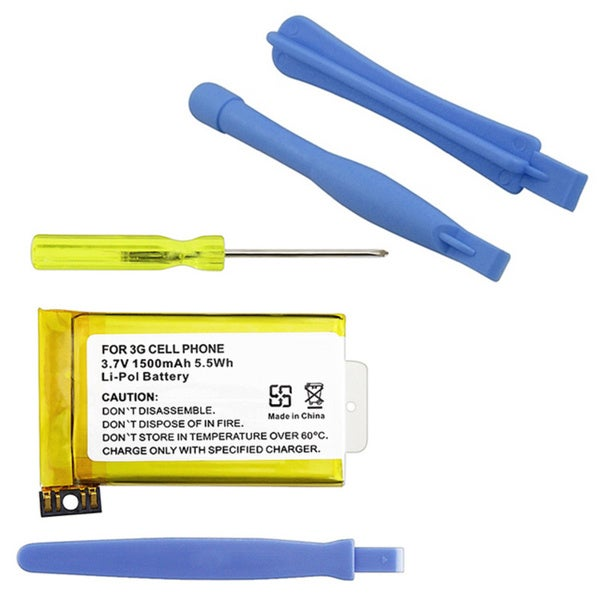 INSTEN Replacement Battery and Repair Pry Tools for Apple iPhone 3G