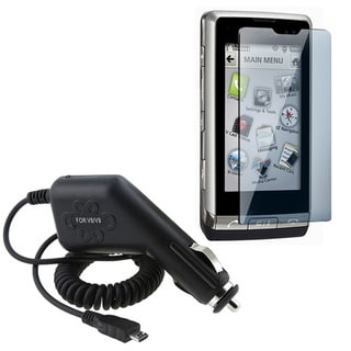 Eforcity Screen Protector Car Charger for LG VX9700 Dare