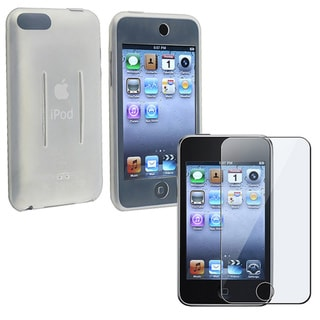 INSTEN Soft Silicone Skin iPod Case Cover with Screen Protector for iPod Touch Gen2