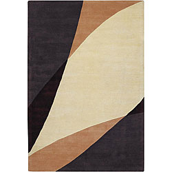Hand-Tufted Contemporary Mandara New Zealand Wool Rug (5' x 7'6)