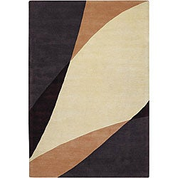 Hand-Tufted Contemporary Mandara New Zealand Wool Rug (7'9 x 10'6)