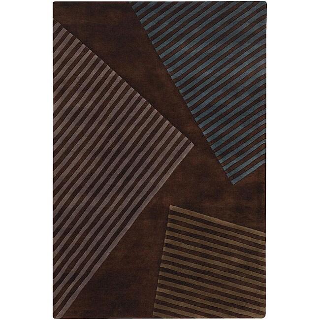 Hand-Tufted Abstract Mandara New Zealand Wool Area Rug (5' x 7'6)