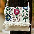 'Snow Messenger' Wool Shoulder Bag (Peru)