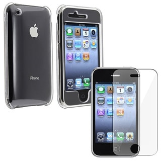 Eforcity Clear Snap-on Case/ Screen Guard for Apple iPhone 3G/ 3GS