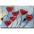Adam Kadmos 'Poppies' Gallery-wrapped Canvas Art