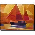 Adam Kadmos 'Sunset Sailing' Canvas Art