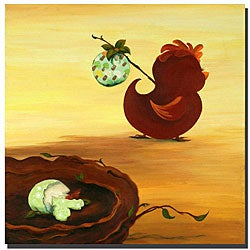 Sylvia Masek 'Leaving the Nest' Ready to Hang Canvas Art