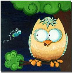 Sylvia Masek 'Owl' Ready to Hang Canvas Art