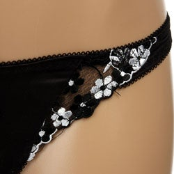 Donna di Capri Women's Delicate Flower Lace Thong (Small)