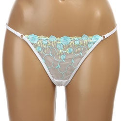 Donna di Capri Women's Delicate Flower Lace Thong