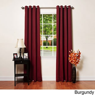 Solid Grommet Top Thermal Insulated 108-inch Blackout Curtains
