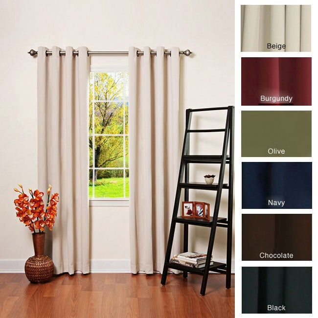 Solid Grommet Top Thermal Insulated 108-inch Blackout Curtains at Sears.com