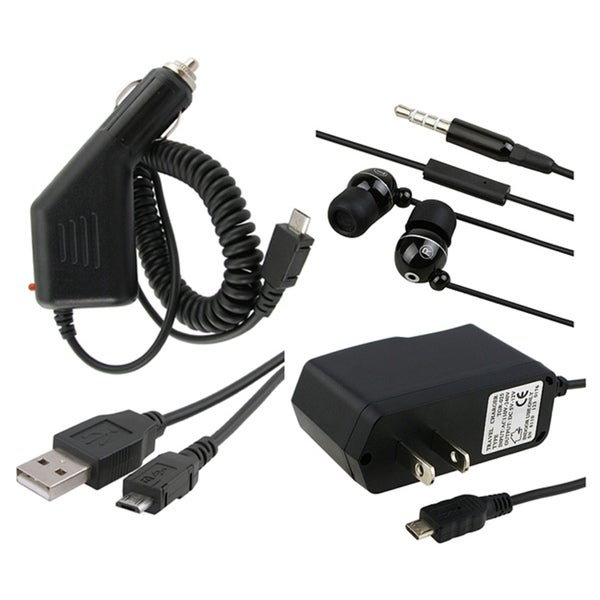 INSTEN Headset USB Cable Car Travel Charger for LG / Blackberry