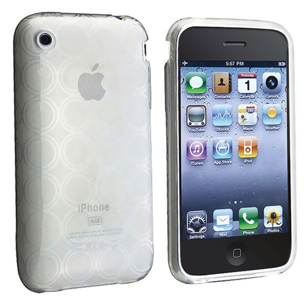 Eforcity TPU Rubber Skin Case for Apple iPhone 3g / 3gs, Clear Circle
