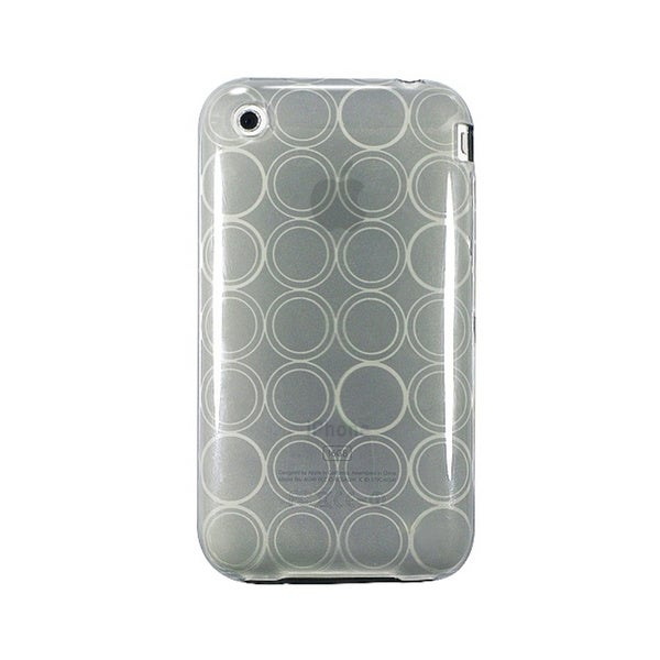 Eforcity TPU Rubber Case for Apple iPhone 3g / 3gs, Clear Smoke Circle