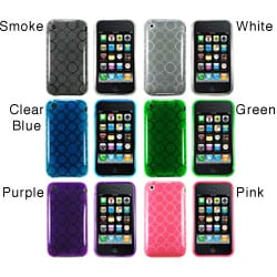 Eforcity Circle TPU Rubber Case for Apple iPhone 3g / 3gs
