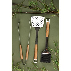 Pacific Bamboo 3-piece Barbecue Tool Set