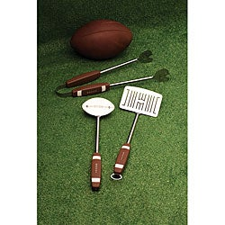 Stainless Steel 'Football' 3-piece Barbecue Tool Set